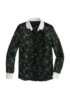 Collection clip-dot verdant floral blouse