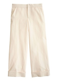 Collection cropped cotton-linen trouser