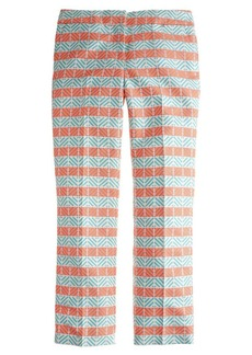 Collection cropped pant in diamond stripe jacquard