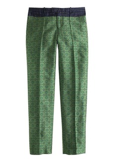 Collection cropped pant in jade jacquard