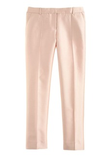 Collection cropped pant in pintucked silk shantung