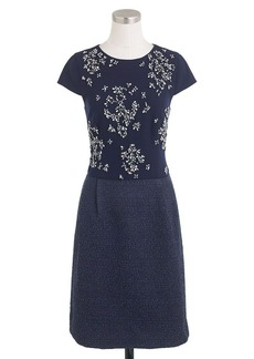 Collection embellished tweed dress