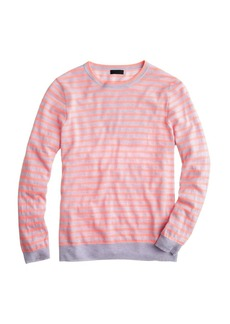 Collection featherweight cashmere long-sleeve tee in stripe