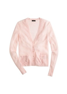Collection featherweight cashmere waffle cardigan sweater