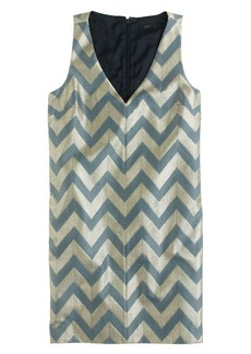 Collection gilded chevron shift dress