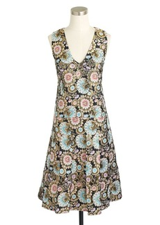 Collection gilded floral jacquard dress