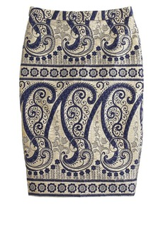 Collection gilded paisley pencil skirt
