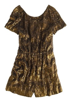 Collection gold sequin romper