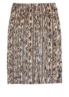 Collection holographic snake print skirt