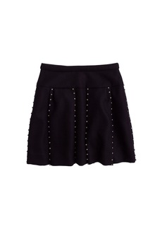 Collection jeweled box-pleat skirt