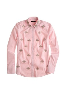 Collection jeweled paillette boy shirt