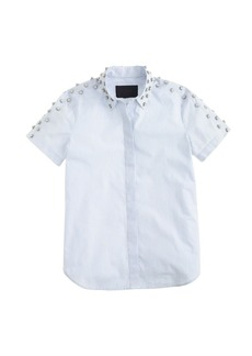 Collection jeweled-shoulder shirt