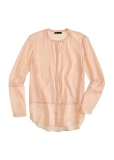 Collection ladder-stitch silk blouse