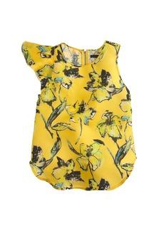 Collection lemon tiger lily flutter-sleeve top