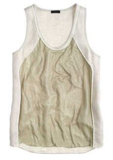Collection linen chain-mail tank top