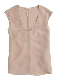 Collection luxe silk crepe top