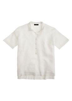 Collection mesh polo shirt