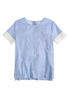 Collection mesh trim shirt