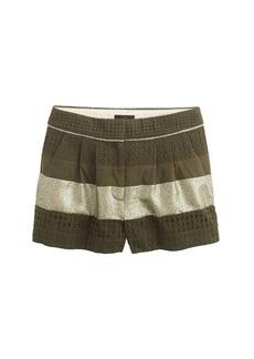 Collection metallic eyelet trouser short