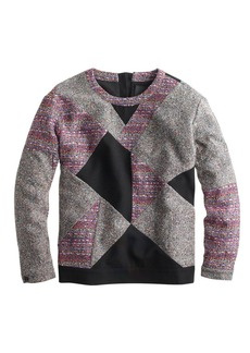 Collection mixed tweed sweatshirt