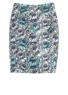 Collection No. 2 pencil skirt in water lily floral