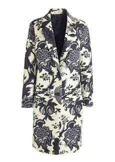Collection noir floral bonded coat