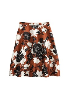 Collection ochre floral skirt