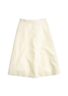 Collection perforated wool skirt