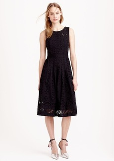Collection pleated eyelet dress