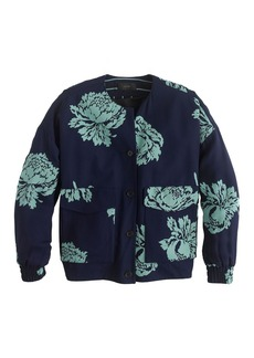 Collection reversible bomber jacket in graphic peony