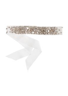 Collection rhinestone-encrusted sash