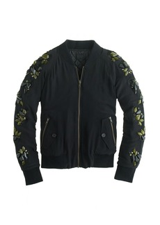 Collection sequin-sleeve bomber jacket