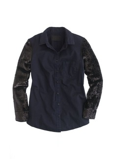 Collection sequin-sleeve shirt