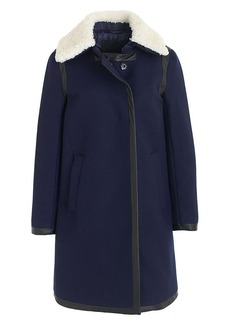 Collection shearling-collar coat