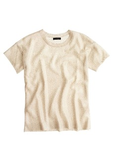 Collection short-sleeve foil sequin sweater