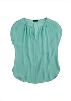 Collection silk petal-sleeve top
