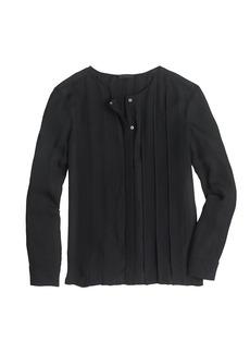 Collection silk pintuck blouse
