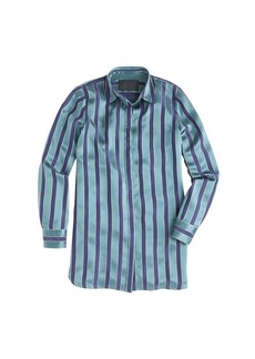 Collection silk shirt in varsity stripe