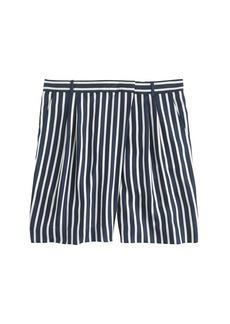 Collection stripe silk short