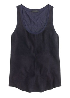 Collection suede-front tank