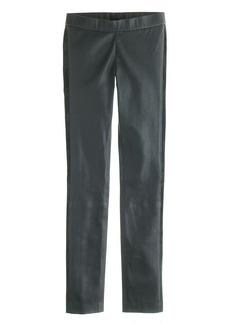 Collection tuxedo leather leggings