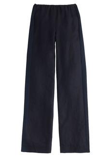 Collection tuxedo-striped linen pant