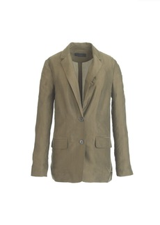 Collection washed taffeta blazer