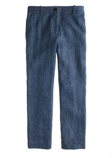 Collection women's Ludlow pant in Italian linen chambray