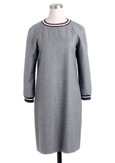 Collection wool flannel varsity dress