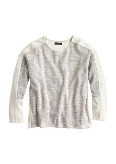 Colorblock jaspé wool top