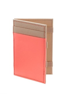 Colorblock leather magic wallet