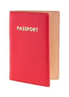 Colorblock leather passport case