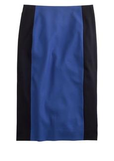 Colorblock pencil skirt in Super 120s wool