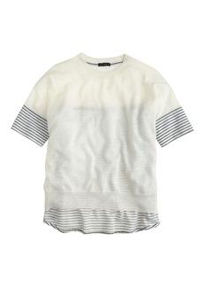 Combo sweater in stripe
